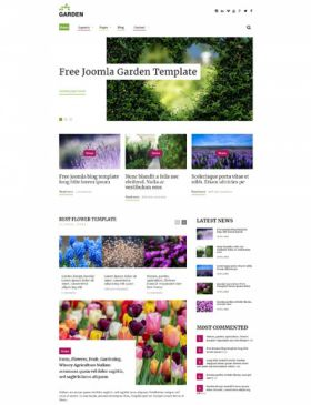 Garden Joomla 3 Template for Farm, Flowers, Fruit, Gardening, Winery, Agriculture News Website