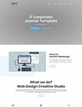 IT Agency Webdesign Digital SEO Free Joomla Template