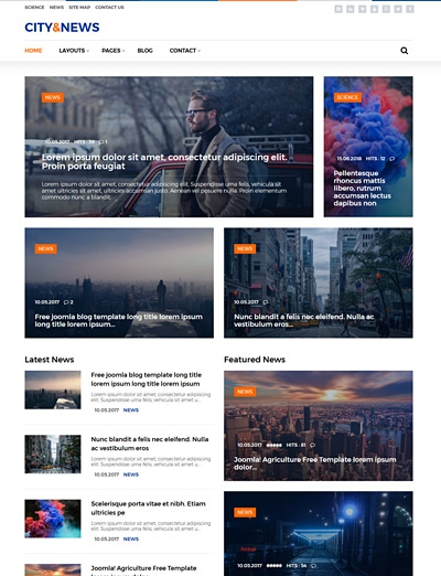 City&News - News One Joomla! Template with quickstart package for blogs, newspaper portal and magazine websites